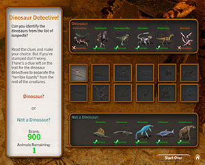 Dinosaur Detective Touch Screen Game