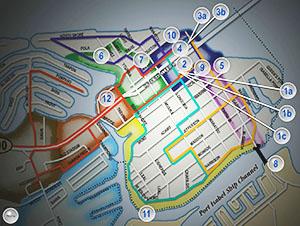 Wayfinder touch screen interactive map