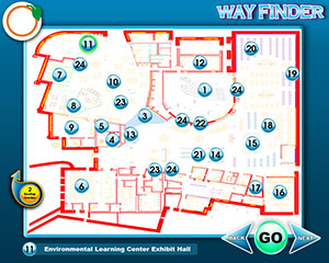 Touch Screen Wayfinder Interactive Map