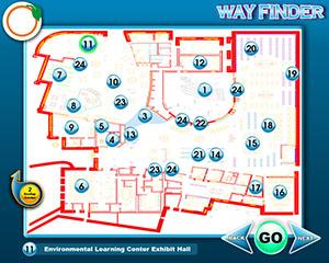 Touch Screen Wayfinder Interactive Map